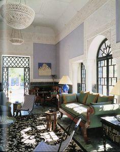 Jacques Grange Interiors. couch, grang interior, light fixtures, color