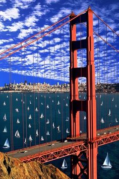Golden Gate Bridge, San Francisco - photo by, Mitchell Funk ~~~~  Went to Jr. college in this area for several years.  Great tourist sites...beautiful place to live and visit...
