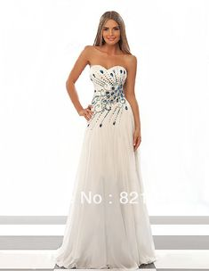 ALL SZ Long White Peacock Rhinestone Wedding Bridal Gowns Evening Pageant Dress-in Evening Dresses from Apparel & Accessories on Aliexpress.com   Alibaba Group