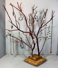 Jewelry Tree  Large Twin Branch Manzanita  1236 by RedBarkDesigns