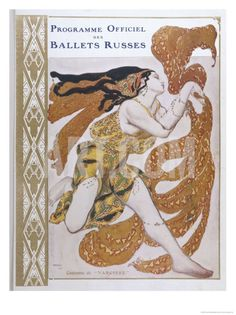 Narcisse Cover for the Offical Programme of Narcisse Giclee Print by Leon Bakst at Art.co.uk