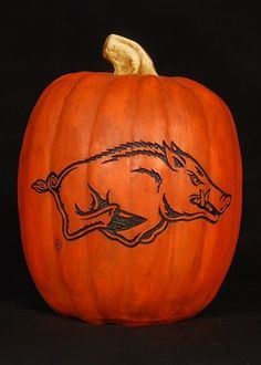Arkansas Razorback Pumpkin Halloween Decoration by Cumberland Designs. $34.95. 7 Inches High. Unisex Adults. Officially Licensed Arkansas Razorback Pumpkin Halloween Decoration. Resin. Debossed Logo-Indoor/Outdoor Decorations. Razorback 7 inch resin pumpkin. This College reusable Halloween pumpkin is made of hand-finished resin. The pumpkin includes a debossed logo, which gives the logo a branded appearance. The versatile material allows the pumpkin to be used...