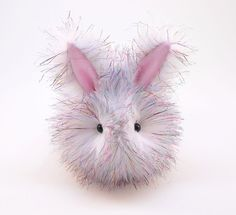 Sparkle the Easter Bunny Rabbit Fluffy Plush Stuffed Animal Easter Toy - 6x10 Inches Large Size on Etsy, $40.69 AUD