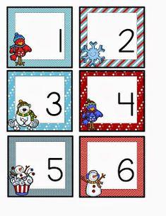 winter calendar card freebie September Themes, September Calendar, Calendar Time, School Calendar, January Art, Preschool First Day, Preschool Winter, Preschool Christmas, Christmas Fun