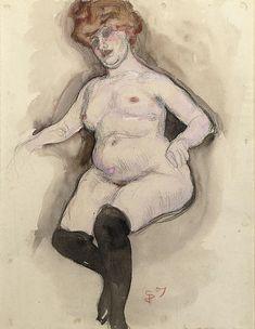 Jan Sluijters - Naakt met zwarte kousen (1907)