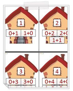 Maisons des nombres de 1 à 10 - CP (affiches, mémo) Kindergarten Classroom Setup, Preschool Education, Teaching Math, Numbers Preschool, Learning Numbers, Math School, Math Class, Math Addition, Addition And Subtraction