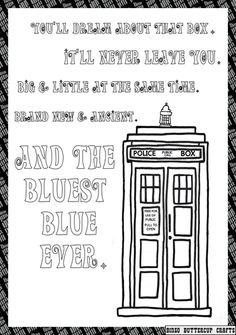 tardis love coloring page more art less craft coloring doctor who