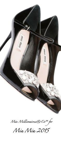 Miu Miu 2015 Crystal Embellished Pumps - Miss Millionairess&Co™