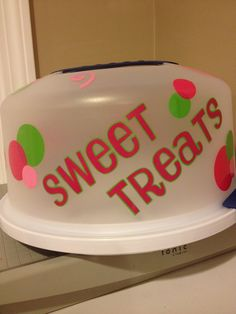 cake carriers decorated with vinyl - Bing Images