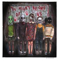 What kids are doing? They're killing them selves|-/ Clique Art