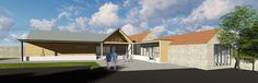 © O2i Design Limited - Daytime view - A modern extension to a Somerset chapel, currently on our (virtual) drawing boards. #somerset #chapel #community #church