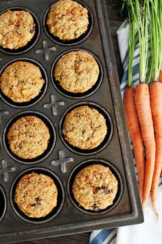 Oh, what a glorious morning with Morning Glory Muffins! These whole wheat muffins with carrots, pineapple, coconut, and raisins are healthy and wholesome. Morning Glory muffins make a great breakfast on the go! Muffin Recipes, Brunch Recipes, Breakfast Recipes, Breakfast Ideas, Brunch Foods, Healthy Muffins, Healthy Snacks, Healthy Breakfasts, Healthy Cooking
