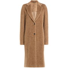 Maison  Margiela Alpaca and Wool Coat (3,565 CAD) ❤ liked on Polyvore featuring outerwear, coats, camel, camel wool coat, camel coat, woolen coat, beige coat and slim fit wool coat