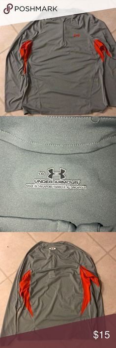Under Armour Men's Quarter Zip Pullover Excellent condition on one of the earlier Men's Under Armour Quarter Zip Pullover.  This one is for cooler weather but not for cold winter temps.  Size is a large with no snags or tears!! Under Armour Shirts Sweatshirts & Hoodies