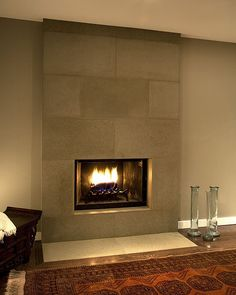 Cast Concrete Tiled Fireplace in Portobello by Solus Decor, via Flickr