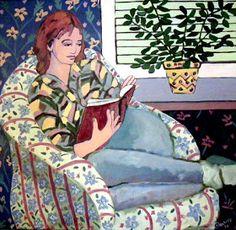 Leitura e arte: Arlene Cassidy People Reading, Girl Reading Book, Reading Art, Book People, Woman Reading, Reading Time, Reading Nook, Illustrations, Illustration Art