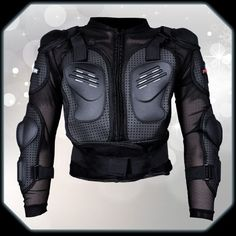 Mens Outdoor Motorcycle Racing Leather Jacket Armor Motocross Clothing Black