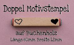 """Doppel Motive Stempel  """" Herz """" 095 von Webermann Aufkleber und Stempel  auf DaWanda.com"""