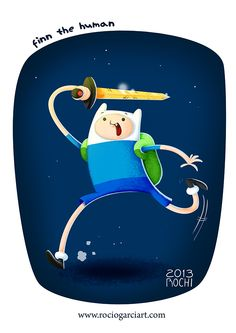 Finn the human Fan Art 2013, Rocío García (Rochi) ART