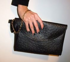DIY- noxcreare: Clutch bag (black leather bag)