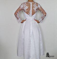 fd335e1e0544 Svadobné šaty vo vintage štýle z luxusnej tylovej krajky   Dyona