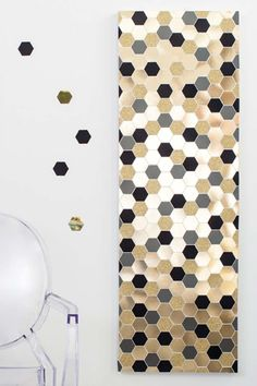 DIY Wall Art Ideas for Teen Rooms - DIY Hexagon Art - Cheap and Easy Wall Art Projects for Teenagers - Girls and Boys Crafts for Walls in Bedrooms - Fun Home Decor on A Budget - Cool Canvas Art, Paintings and DIY Projects for Teens http://diyprojectsforteens.com/diy-wall-art-teens