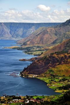 Lake Toba  the largest resurgent caldera on Earth, situated on the Island of Sumatra. In the center of its waters, you'll have the chance to visit the largest island within an island, hosting two other lakes. #travel 2