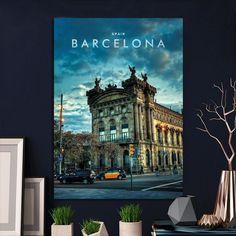Metal Poster Barcelona Spain