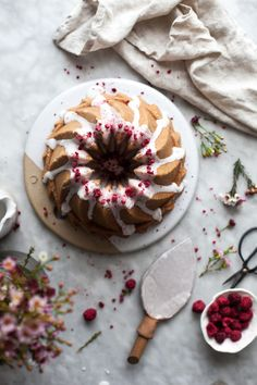 Raspberry Rose Bundt Cake (GF w/ regular flour option) - The Kitchen McCabe Baking Recipes, Cake Recipes, Dessert Recipes, Cake Photography, Sweet Cakes, Let Them Eat Cake, Cupcakes, Raspberry, Bakery
