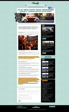 Howdy Buenos Aires web design proposal by mudrac #green