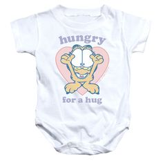 Garfield/Hungry For A Hug Infant Snapsuit in
