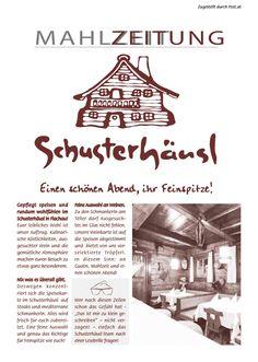 Mahlzeitung SChusterhäusl Flachau Winter16/ 17 Movie Posters, Home Decor, Wine List, Newspaper, Nice Asses, Decoration Home, Room Decor, Film Poster, Home Interior Design