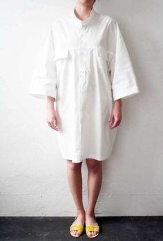 Odd Couple Shirt/Dress White Poplin