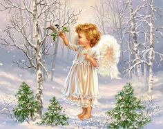 A little angel to watch you and guide you as each morning arises! Blessings to you!
