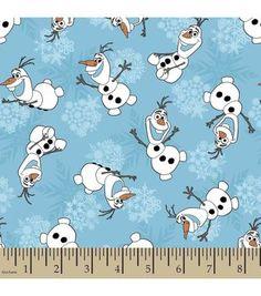 Disney Frozen Olaf Snowflakes Cotton Fabric
