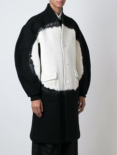 Anrealage cable knit panel midi coat