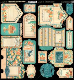 Cardstock Tags & Pockets from Cafe Parisian, a new collection from Graphic 45