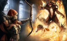 Diablo - Final Battle by Jorsch on DeviantArt King Arthur Legend, Blood Elf, A Court Of Mist And Fury, Cg Artwork, Demon Hunter, Look At The Stars, Dark Fantasy, Fantasy Art, Mists