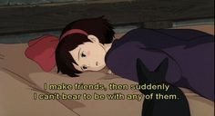 studio ghibli digital art graphic design aesthetic drawing modern anime style asian japanese chinese ethereal g e o r g i a n a : a r t Kiki Delivery, Kiki's Delivery Service, Quote Aesthetic, Aesthetic Anime, Aesthetic Drawing, Citations Film, Cartoon Quotes, Art Anime, Ghibli Movies