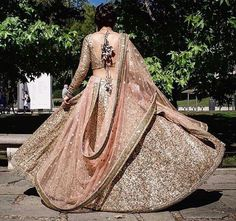 The best thing which you want about such lehengas is these are one-of-a-kind and versatile. For an immediate Barbie-look you can decide on a ruffled lehenga. Should youn't need to go the standard way, then this lehenga is most likely… Continue Reading → Indian Bridal Wear, Indian Wedding Outfits, Bridal Outfits, Indian Outfits, Indian Reception Outfit, Indian Engagement Outfit, Bride Indian, Indian Bridal Lehenga, Sikh Wedding