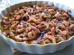 Greek recipe - greek food recipes and cooking - Greek Shrimp with Feta - Γαρίδες σαγανάκι