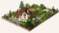 планировка дачного участка с постройками