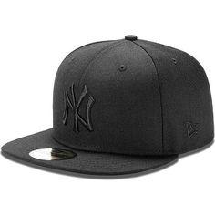 New Era 59 fifty New York Yankees Nylon Fitted Hat Black
