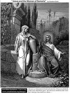 Jesus y la mujer de Samaria.