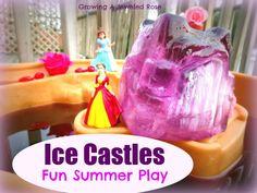 Make Ice castles using sand buckets-  fun Summer play