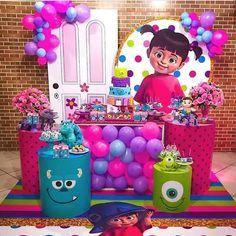 Monster 1st Birthdays, Monster Inc Party, Monster Birthday Parties, 1st Birthday Party Themes, 1st Birthday Girls, Birthday Party Decorations, Birthday Ideas, Monsters Inc Baby Shower, Monsters Inc Boo