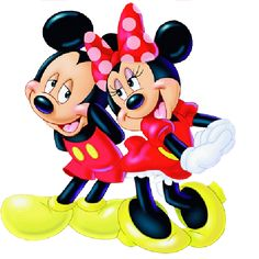 Mickey And Minnie Mouse Cartoon Characters On A Transparent Background.All Images Are Free To Copy For Your Own Personal Use