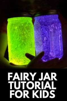 Give your kids the magic of wonder and imagination with this AMAZING glow in the dark fairy jar tutorial! Get the full tutorial at MomDot.com!