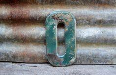 Vintage Metal Chippy Number 0 Sign Zero by TheOldTimeJunkShop, $25.00