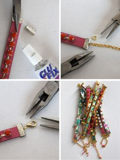 DIY Leather Wrapped Bracelets